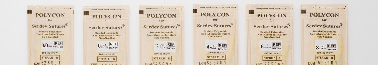polycon semi-elastic surgical sutures